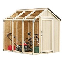 Hopkins Peak Roof Outdoor Storage Shed Kit comes with galvanized steel b... - $80.69