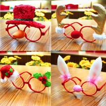 Christmas Glasses Frames Kids Party Costume Ornaments Xmas Home Decor To... - $6.99