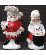 Vintage NAPCO SANTA and MRS CLAUS CHRISTMAS Ceramic Salt Pepper Shaker S... - $124.99