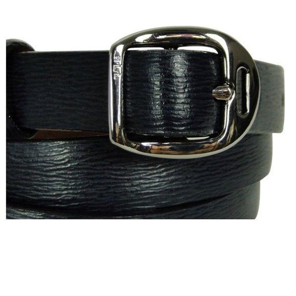 Ralph Lauren Womens Genuine Leather Skinny Belt