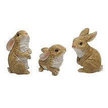 Bunny garden decoration 3 outdoor animal figurine lawn ornament statue r... - $34.53