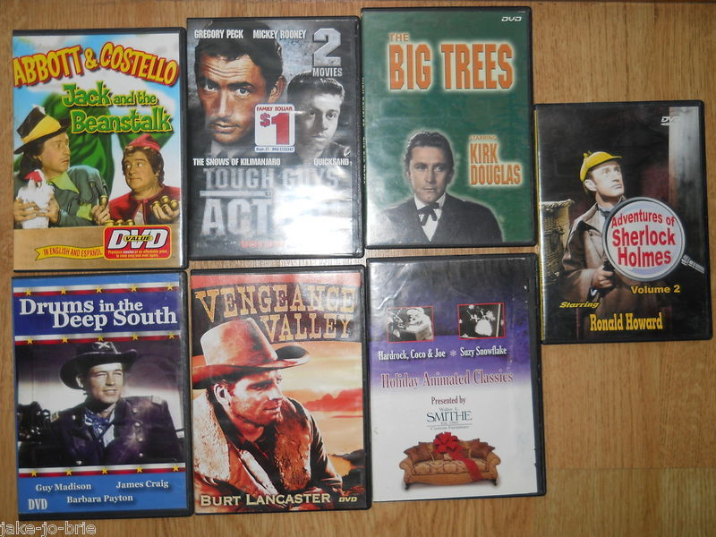 Primary image for Lot of 12 Classic DVD Abbott Costello Kirk Douglas Sherlock Holmes Fred Astaire