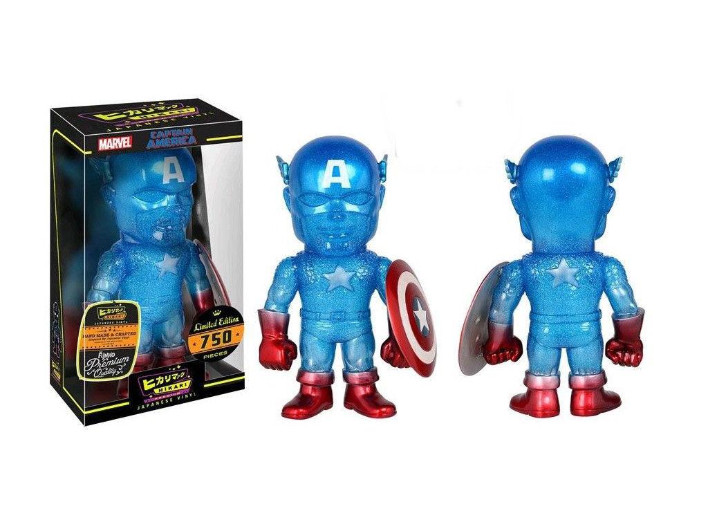 Hikari Japanese Vinyl: Limited Edition True Blue Captain America Sofubi Figure -