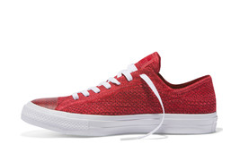 Converse x Nike Flyknit Chuck Taylor All Star Ox Trainers Red Shoes - $131.29