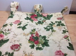 Waverly Roseberry Garden Room Drape Panel Curtain Tab Top Loop Floral 42... - $37.39