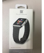 Platinum Link Stainless Steel Band for Apple Watch 42mm - Black - $21.28