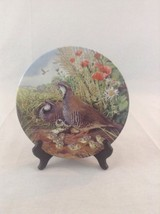 1987 Royal Grafton Red Legged Partridge Outdoor Game Bird Collector Plate - $14.01