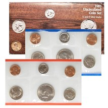 1985 P & D US Mint Set United States Original Government Packaging Box C... - $10.49