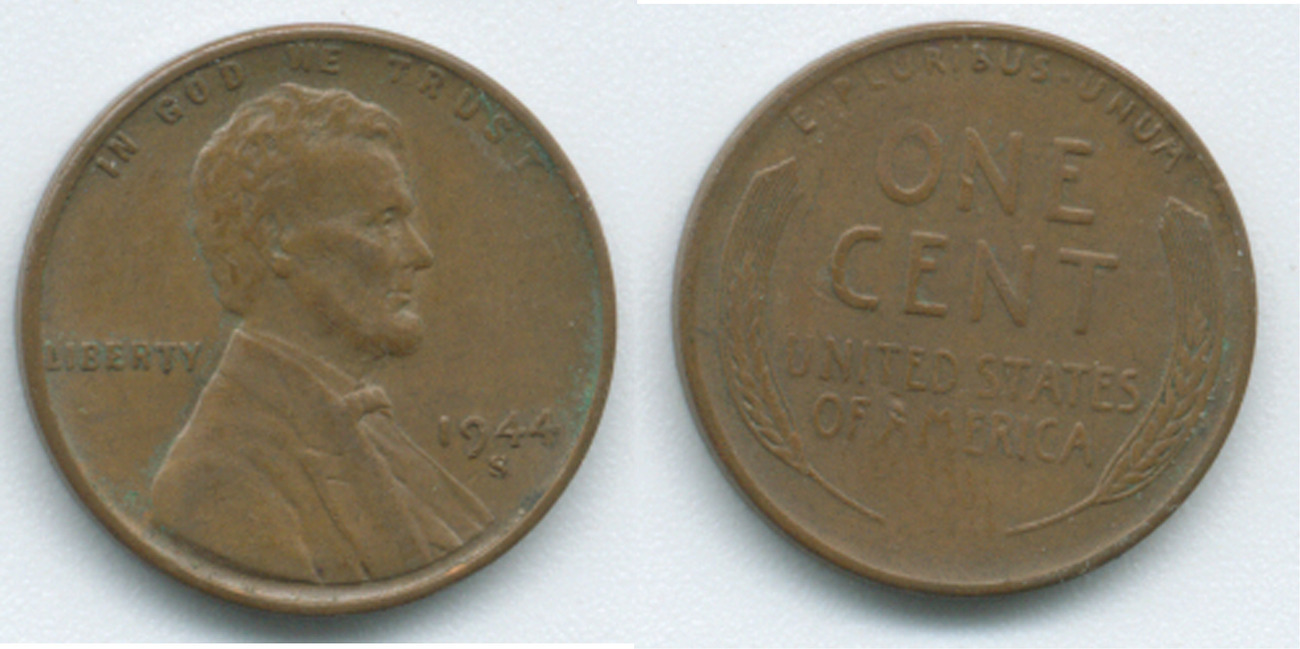 P78 1944 S Lincoln Wheat Penny 1940 49