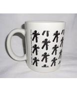 Voodoo Doll Coffee Cup Mug White Black Print Marie Laveau's House of Voodoo - $24.63