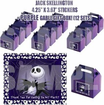 Nightmare Before Christmas Jack Party Favor Boxes with Thank You Decals ... - $24.70
