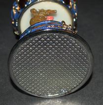 Vintage Decorated Enamel Jeweled Elephant Carousel Music Box  image 6