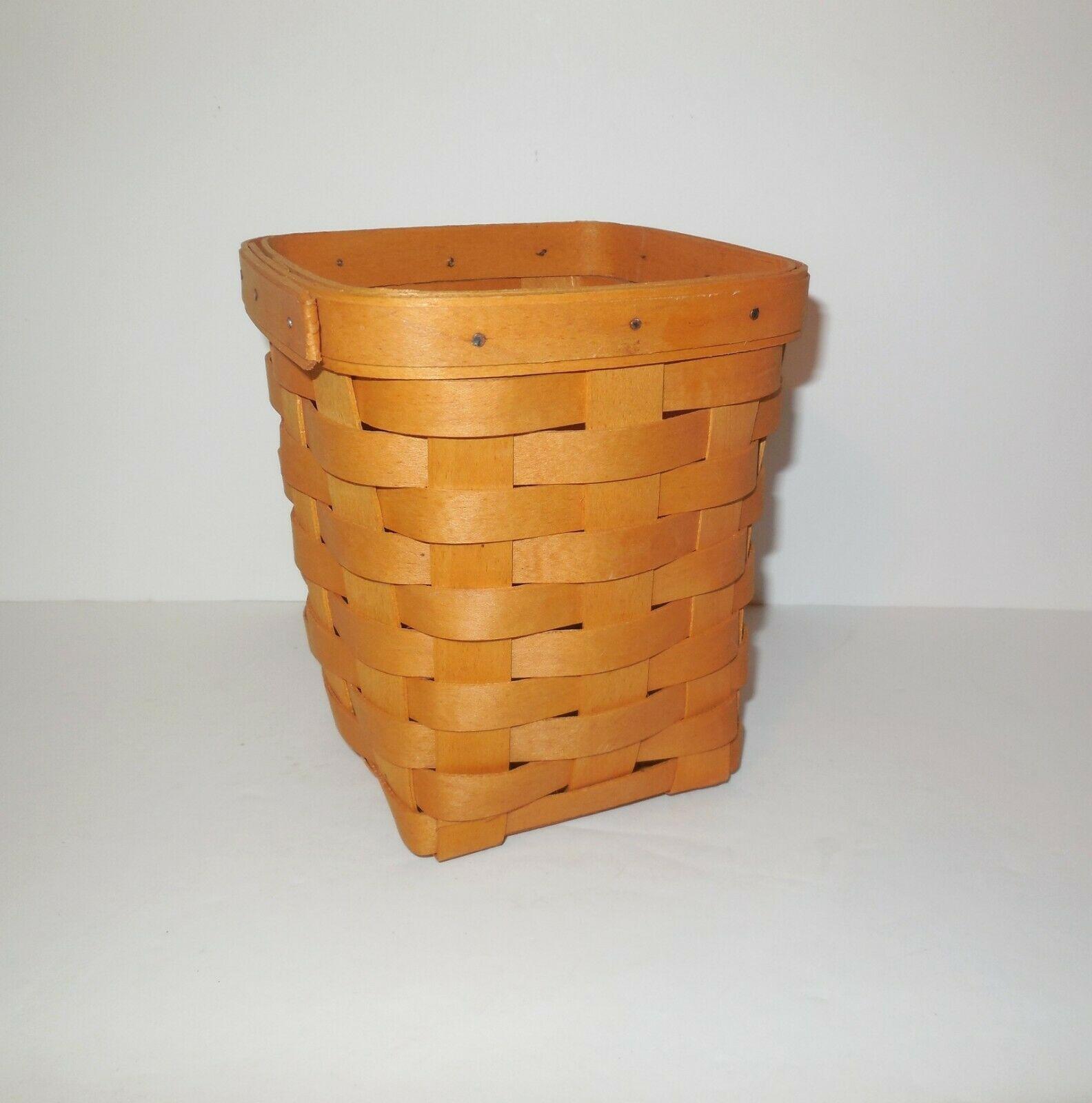 "Longaberger 6"" Spoon Basket 1999 image 2"