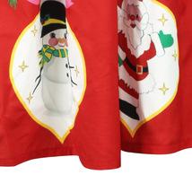 RED Christmas Print  A-line Swing Skirt Women High Waist Knee Length Flare Skirt image 3