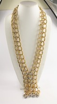 """30"""" ESTATE VINTAGE OVER THE TOP RUNWAY DOUBLE CURBED CHAIN STATEMENT NEC... - $125.00"""