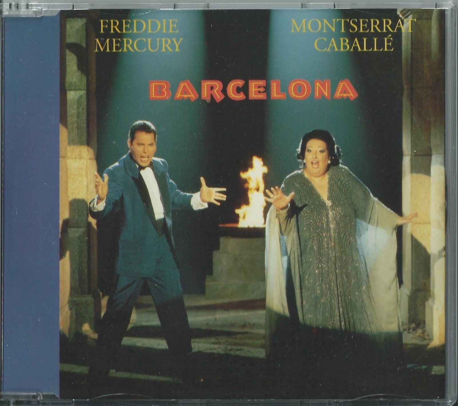 FREDDIE MERCURY & MONTSERRAT CABALLE - BARCELONA 1992 UK 4 TRACK CD SINGLE QUEEN