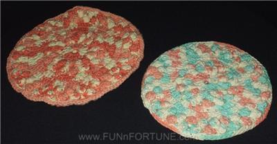 Pair HANDMADE Gift CROCHET Vintage POT HOLDERS Doily 2