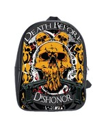 Death Before Dishonor Custom Leather Backpack - $29.99