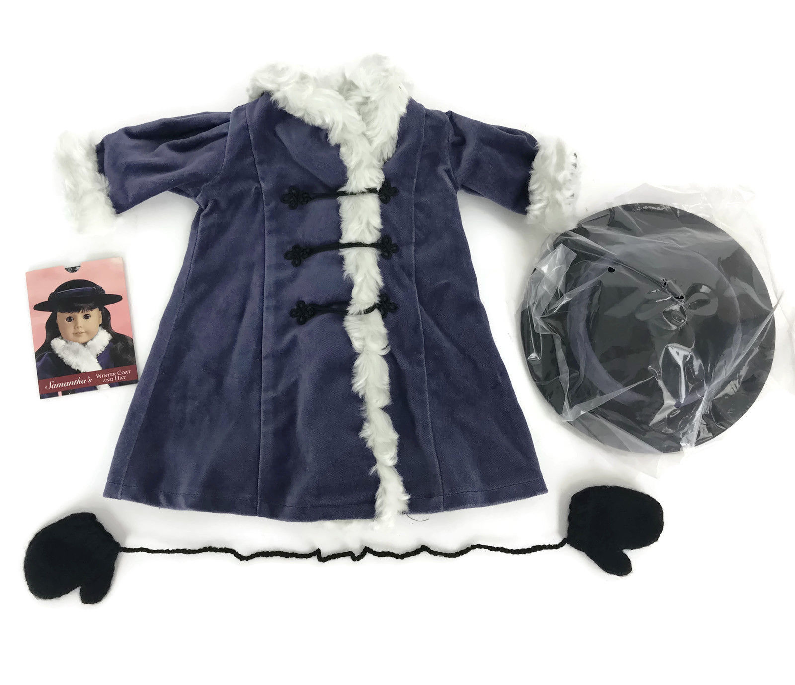 "Primary image for American Girl Doll Samantha Holiday Winter Coat Purple White Fur Fits 18"" Doll"