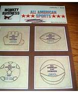 Monkey Business, All American Sports Cross Stitch - $3.00