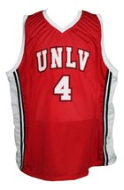 Larry Johnson #4 College Basketball Jersey New Sewn Red Any Size image 3