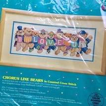Sunset Baby Hugs Counted Cross Stitch Kit Chorus Line Bears I Love You 18 X 7 - $12.86