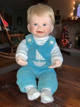 Ashton Drake Christopher's First Smile boy porcelain doll - $13.61