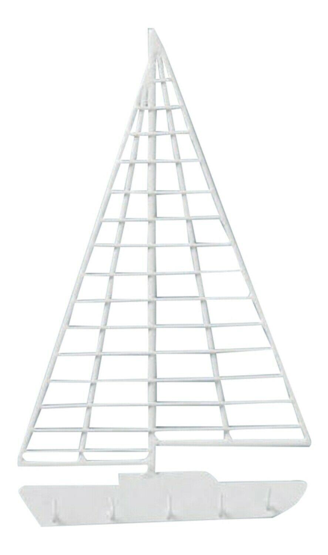 Smooth Sailing Sailboat Shaped Metal Key Hook Wall Decor - $31.90