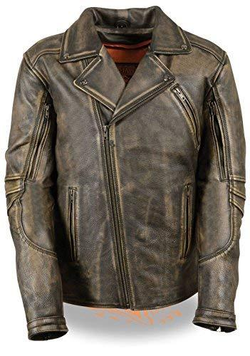 Primary image for Milwaukee Leather Mens Triple Stitch Extra Long Beltless Brown Leather Jacket (4