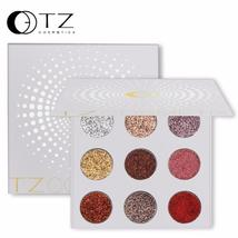 9 Colors Glitters Eye shdow Palette Rainbow Diamond Pressed Glitters Eye... - $16.24