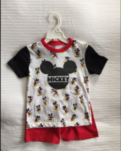 NWT BOYS DISNEY MICKEY MOUSE SHIRT AND SHORTS SET SIZE 4 - $15.83