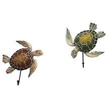 "Comfy Hour 5"" Set Turtle Coastal Ocean Theme Decorative Wall Hanger image 3"