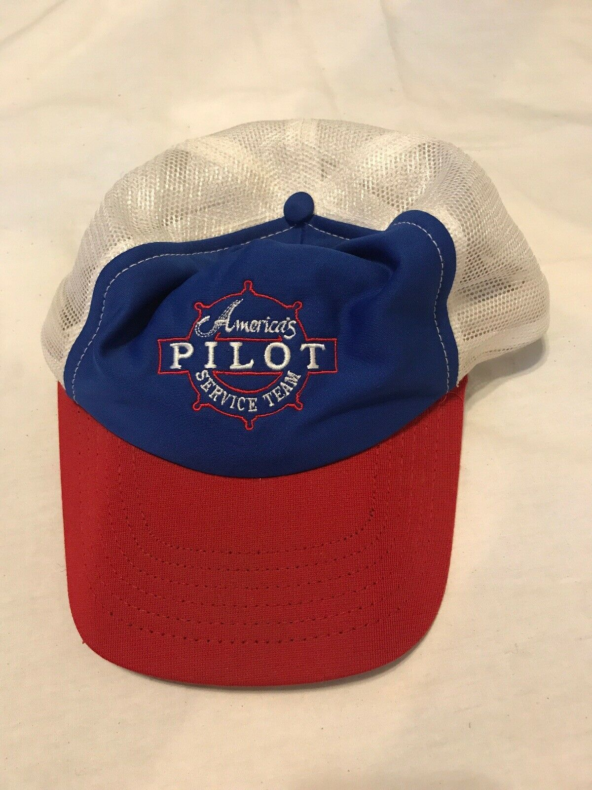 Primary image for VTG 80s Americas Pilot Service Team Trucker Hat Cap Union Made in USA Airplanes