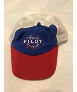 VTG 80s Americas Pilot Service Team Trucker Hat Cap Union Made in USA Ai... - $13.85