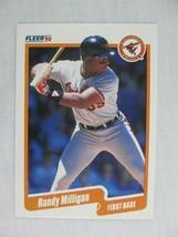 Randy Milligan Baltimore Orioles 1990 Fleer Baseball Card 183 - $0.98