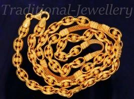 22 Karat Gelbgold Gold Handmade Hohl Glieder Rolo Kette mit Box Halskett... - $3,132.81