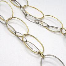 Halskette Silber 925, Karneol Oval Gewellt, Doppel Kette, Lang 110 CM image 4