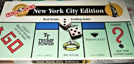 Monopoly - New York City Edition Monopoly - 1995 (Complete) - $19.95