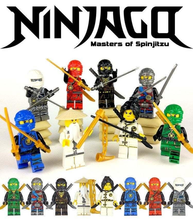 Ninjago Ice Blizzard Custom Lego Mini Figure Masters of Spinjitsu Ninja Sword