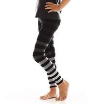K-Deer Kids Black/Grey Ombre Jody Stripe Athletic Leggings