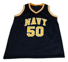 David Robinson #50 Navy New Men Basketball Jersey Navy Blue Any Size image 3
