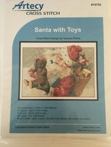 Artecy Cross Stitch Pattern Santa with Toys Holiday Christmas Teddy Bear #10792 - $13.49