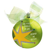Carlton Heirloom Special Beautiful Glass Ball Star Christmas Ornament #C... - $14.59