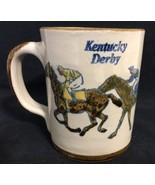 Kentucky Derby Louisville Stoneware Churchill Downs Licensed Coffee Cup Mug - $19.79