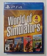 World Of Simulators - 4 Full Games (PlayStation 4 PS4 2019) Brand New Se... - $28.59
