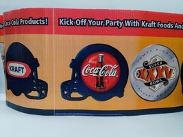 Coca-Cola Super Bowl XXXV Corrugated Shelf Wrap (24ft) - UNIQUE ITEM - $8.42