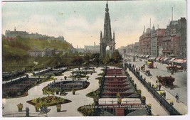 United Kingdom Scotland Postcard Edinburgh Princes St Sir Walter Scott M... - $2.84