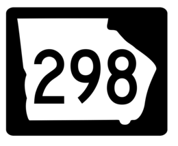 Georgia State Route 298 Sticker R3962 Highway Sign - $1.45+