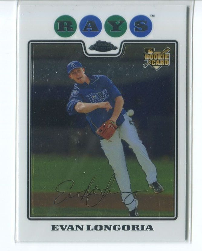 EVAN LONGORIA RC 2008 Topps Chrome #193 ROOKIE Rays