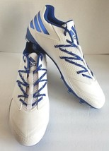 adidas Men Carbon Low Football Cleats White/Blue AQ8777 Size 16 - $39.95